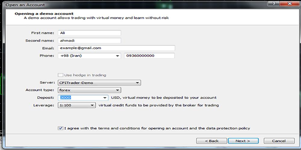 حساب دمو اکانت در متاتریدر 5 چیست